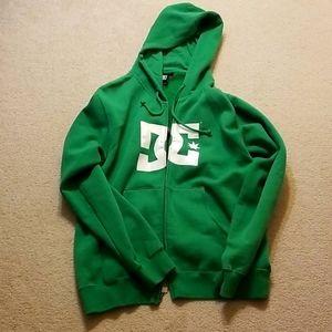 Green DC Zip Up Hoodie